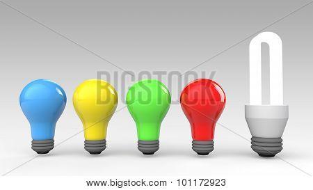 3d unique fluorescent bulb