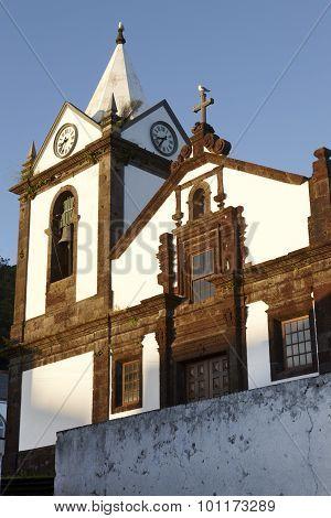 Traditional Azores Church In Calheta. Sao Jorge Island. Portugal