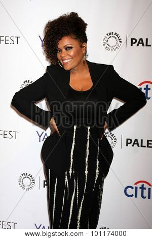 LOS ANGELES - SEP 9:  Yvette Nicole Freeman at the PaleyFest 2015 Fall TV Preview - NBC at the Paley Center For Media on September 9, 2015 in Beverly Hills, CA