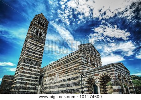 Saccargia Cathedral Under A Dramatic Sky