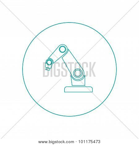 Product Development Concept Icon. Robot Icon. Industry Robot Icon, Robotic Arm, Rescue Robot.