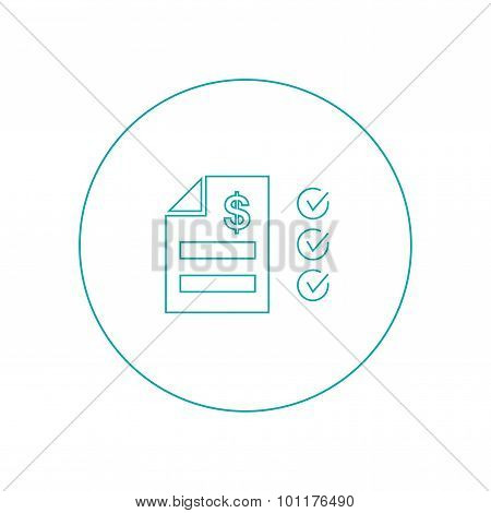 Tax Statement Icon - Concept for business and finance. Concepts for taxes finance bookkeeping accoun