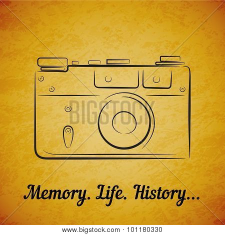 Vector vintage film photocamera