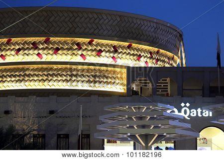 Milan, Mi, Italy - 8Th September, 2015. Expo Milano. Qatar Pavilion