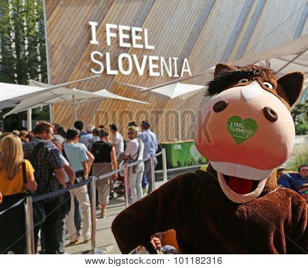 Milan, Mi, Italy - 8Th September, 2015. Expo Milano. Slovenia Pavilion