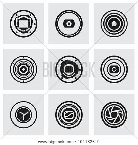 Vector Camera shutter icon set