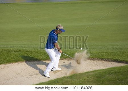 PARIS FRANCE, 02 JULY 2009. Per-Ulrik Johansson (SWE) competing in the 1st round of the PGA European Tour Open de France golf tournament.