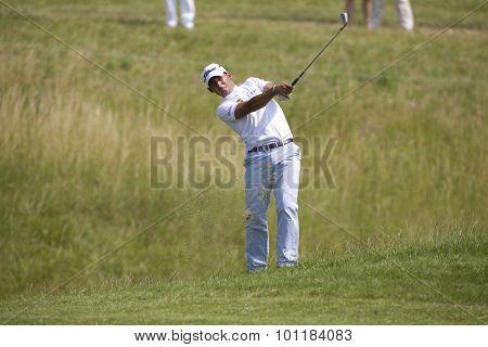 PARIS FRANCE, 02 JULY 2009. Pablo Larrazabal (ESP) competing in the 1st round of the PGA European Tour Open de France golf tournament.
