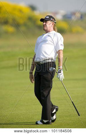 PARIS FRANCE, 02 JULY 2009. Miguel Angel JIMENEZ (ESP) competing in the 1st round of the PGA European Tour Open de France golf tournament.