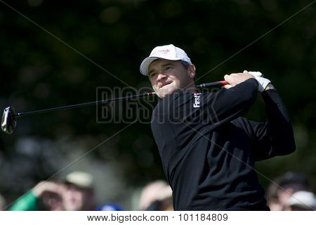 GLENEAGLES SCOTLAND, 29 AUGUST 2009. Paul Lawrie (GBR) competing in the third round of the European Tour Johnnie Walker Championship.