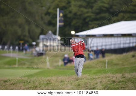 GLENEAGLES SCOTLAND, 29 AUGUST 2009. Damien McGrane (IRL) competing in the third round of the European Tour Johnnie Walker Championship.