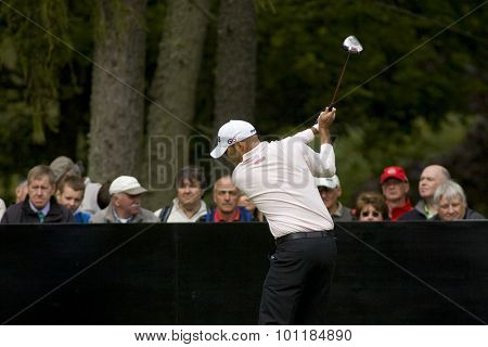 Aug 30 2009; Gleneagles Scotland; Gregory Havret (FRA) competing in the final round of the European Tour Johnnie Walker Championship.