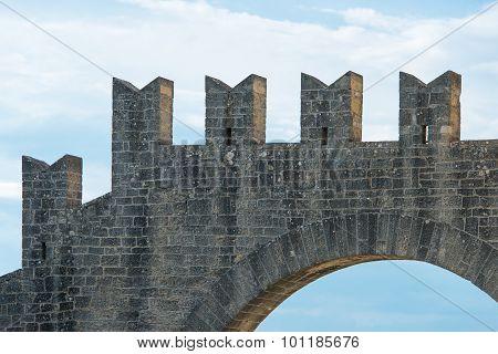 Battlements Of A Castle
