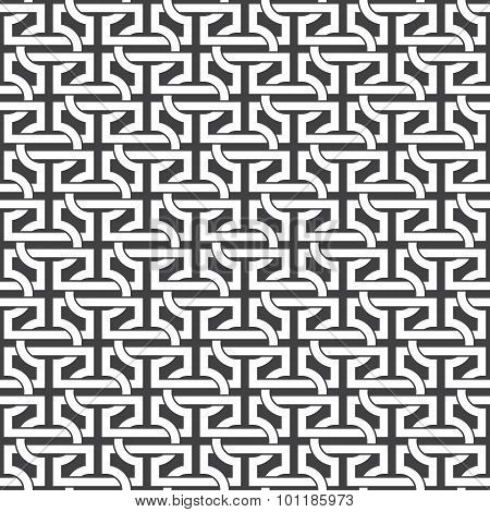 Seamless pattern of intersecting letters H
