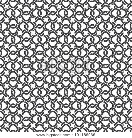 Seamless pattern of intersecting twisting stripes
