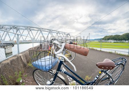 Fisheye Bicycle And Bridge