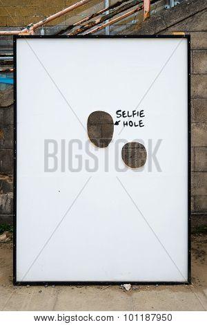 Selfie Hole At Banksy's Dismaland Bemusement Park.