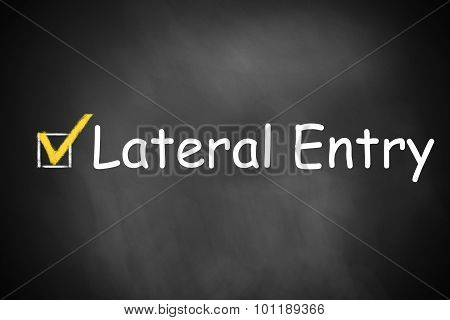 black chalkboard with checkbox checked lateral entry career