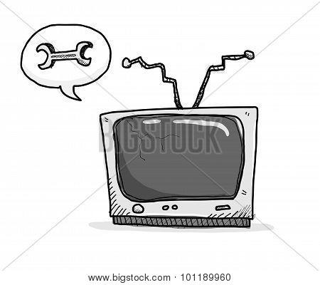 Broken TV Needs Fixing