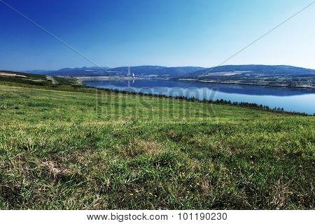 new lake Milada in north Czech republic