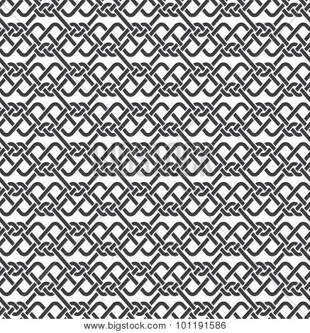 Seamless pattern of braided strips