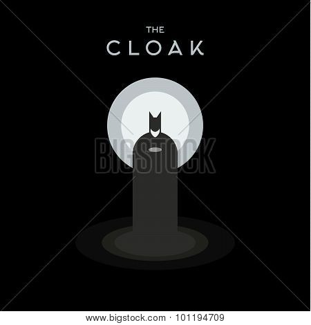 Silhouetted against the light, vector illustration flat