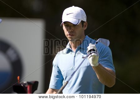 WENTWORTH, ENGLAND. 24 MAY 2009.Paul Casey  on his way to winning  the European Tour BMW PGA Championship.