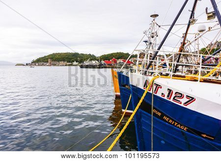 Oban Harbour, Oban, Argyle, Scotland. 28th August 2015