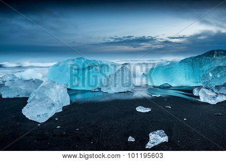 Jokulsarlon ice lagoon in Iceland