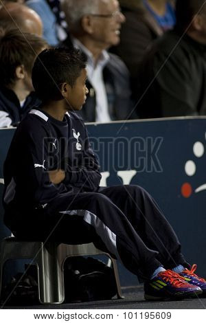 LONDON ENGLAND 25 August 2011.  a ball boy during the UEFA Europa league match between Tottenham Hotspurs  and Hearts. Played at White Hart Lane.