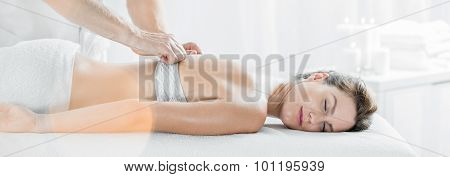 Beautiful Female During Massage Session