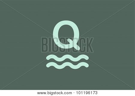 Q letter vector logo icon templated.