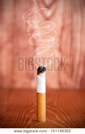 Smoking Cigarette Butt