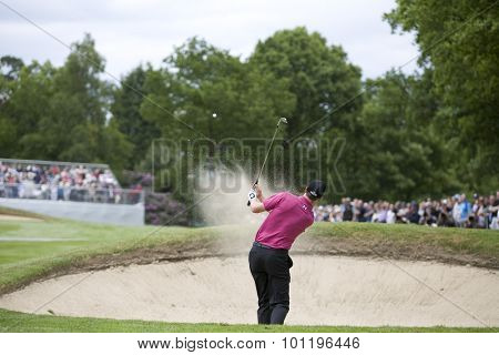 WENTWORTH, ENGLAND. 22 MAY 2009.Ross Fisher (GBR) playing in the 2nd round of the European Tour BMW PGA Championship.