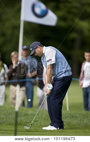 WENTWORTH, ENGLAND. 22 MAY 2009.Ben Curtis (USA) playing in the 2nd round of the European Tour BMW PGA Championship.