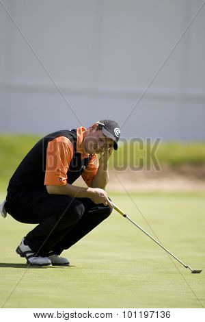 WENTWORTH, ENGLAND. 21 MAY 2009.David HOWELL ENG  playing in the European Tour BMW PGA Championship.