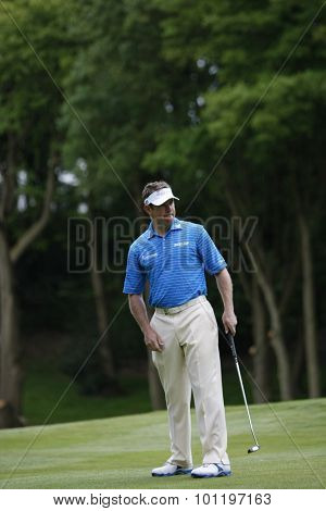WENTWORTH, ENGLAND. 21 MAY 2009. Lee WESTWOOD ENG playing in the European Tour BMW PGA Championship.