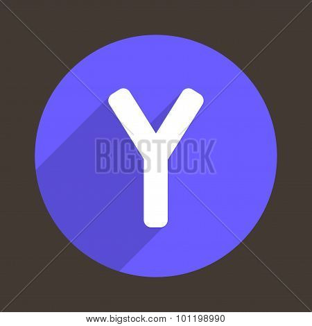 Letter Y Logo Flat Icon Style. Vector