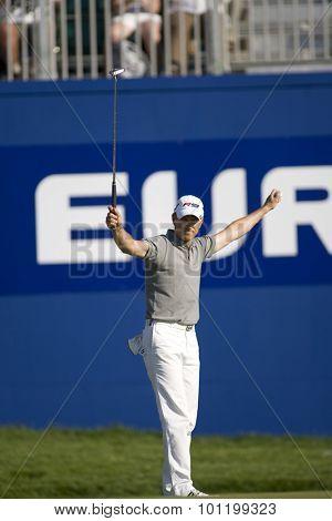 KENT ENGLAND, 31 MAY 2009. Christian CEVAER (FRA) winner of the European Tour European Open golf tournament.