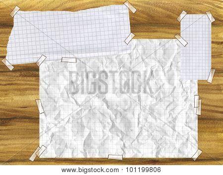 Paper on wood board