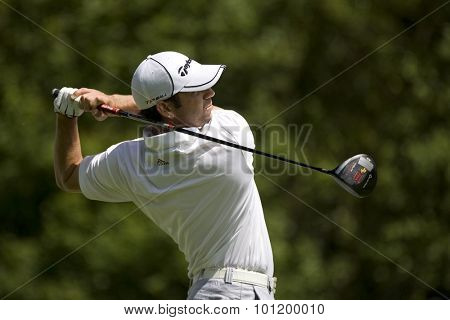 KENT ENGLAND, 29 MAY 2009. Sergio GARCIA (ESP) playing in the second round of the European Tour European Open golf tournament.