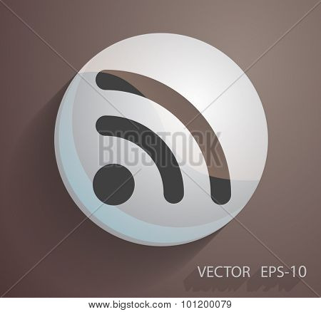 Flat icon of rss