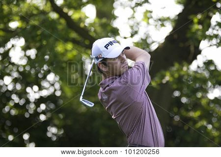 KENT ENGLAND, 29 MAY 2009. Louis OOSTHUIZEN (RSA) playing in the second round of the European Tour European Open golf tournament.