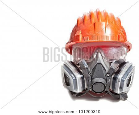 helmet protection glasses and mask