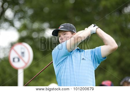 KENT ENGLAND, 27 MAY 2009. Shaun MICHEEL (USA) playing in the first round of the European Tour European Open golf tournament.