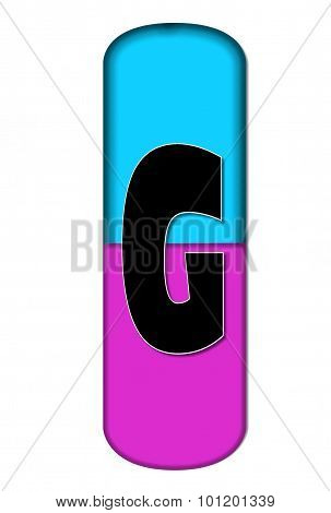 Alphabet Capsule G