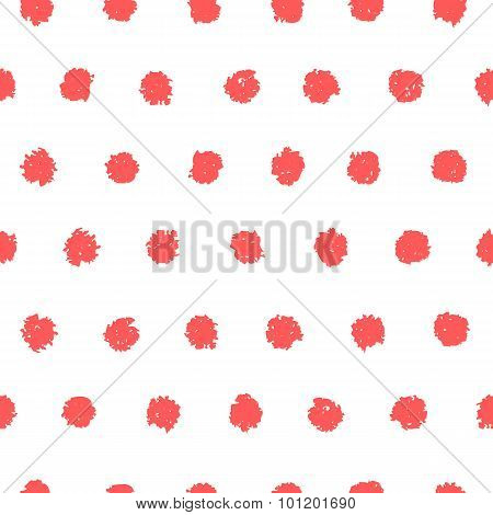Polka dot seamless pattern.