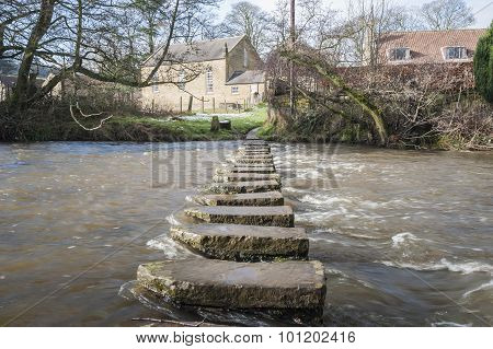 Stepping Stones Over A Small River