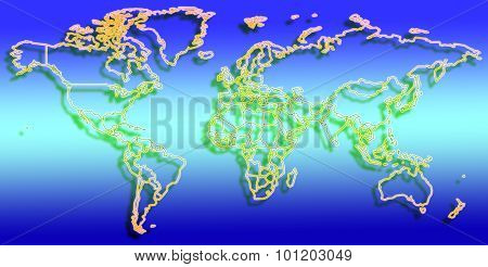 Colorful world map illustration