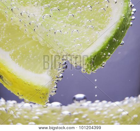 Lemon And Lime In The Gas Bubbles
